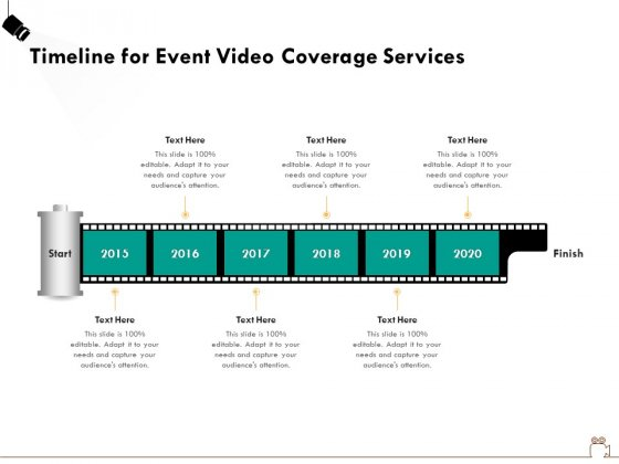 Social Gathering Movie Making Timeline For Event Video Coverage Services Ppt Summary Infographics PDF