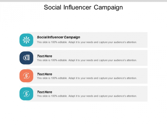 Social Influencer Campaign Ppt PowerPoint Presentation Professional Elements Cpb