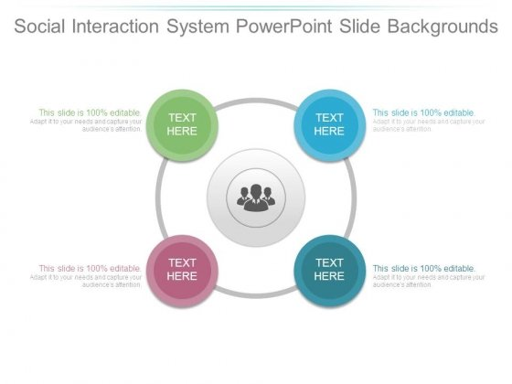 Social Interaction System Powerpoint Slide Backgrounds