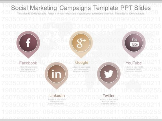 Social Marketing Campaigns Template Ppt Slides