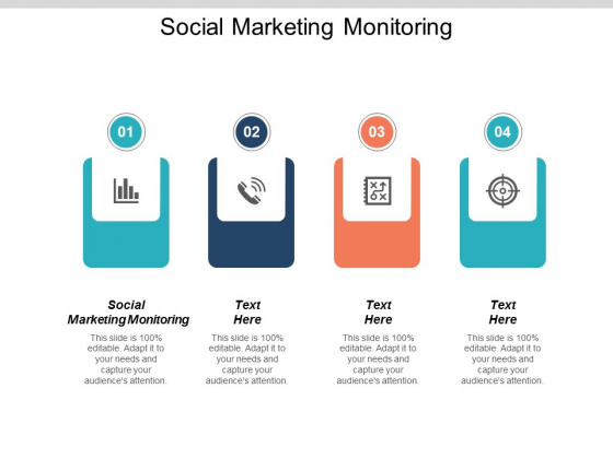 Social Marketing Monitoring Ppt PowerPoint Presentation Icon Samples Cpb
