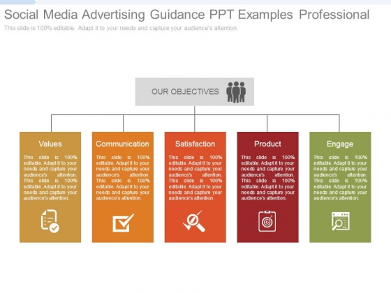Social Media Advertising Guidance Ppt Examples Professional