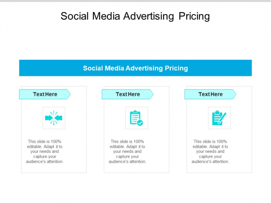 Social Media Advertising Pricing Ppt PowerPoint Presentation Infographic Template Backgrounds Cpb