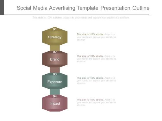 social media advertising template presentation outline, Presentation templates
