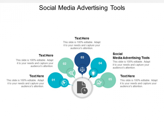 Social Media Advertising Tools Ppt PowerPoint Presentation File Pictures Cpb