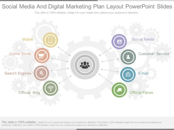 Social Media And Digital Marketing Plan Layout Powerpoint Slides