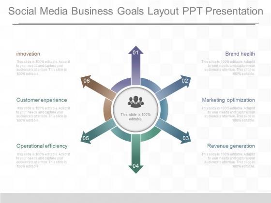 Social Media Business Goals Layout Ppt Presentation