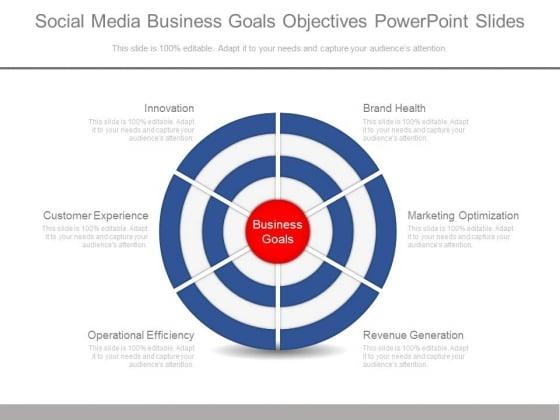Social Media Business Goals Objectives Powerpoint Slides
