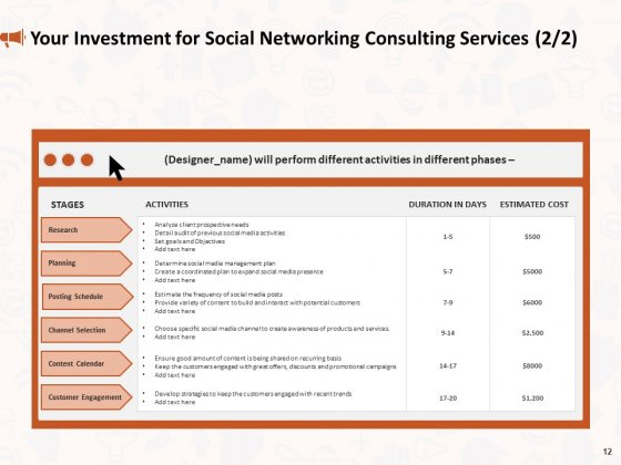 Social_Media_Consultancy_Proposal_Ppt_PowerPoint_Presentation_Complete_Deck_With_Slides_Slide_12