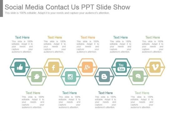 Social Media Contact Us Ppt Slide Show