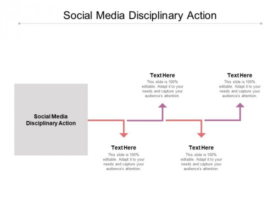 Social Media Disciplinary Action Ppt PowerPoint Presentation File Display Cpb