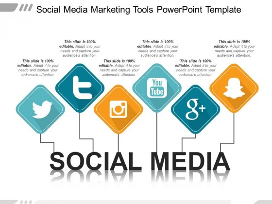 Social Media Free PowerPoint Diagram