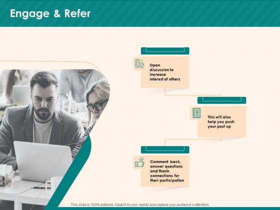 Social Media Marketing Budget Engage And Refer Ppt File Portfolio PDF