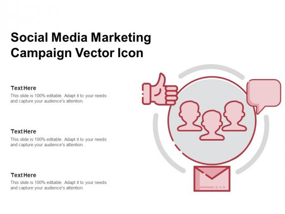 Social Media Marketing Campaign Vector Icon Ppt PowerPoint Presentation Gallery Templates PDF