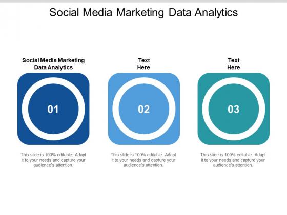 Social Media Marketing Data Analytics Ppt PowerPoint Presentation Outline Slide Cpb