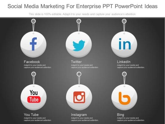 Social Media Marketing For Enterprise Ppt Powerpoint Ideas
