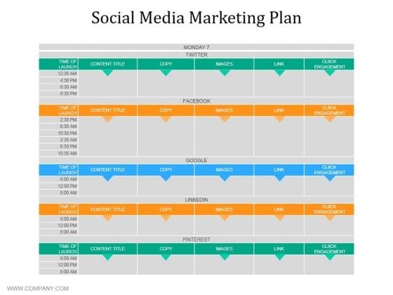 Social Media Marketing Plan Ppt PowerPoint Presentation Pictures Smartart