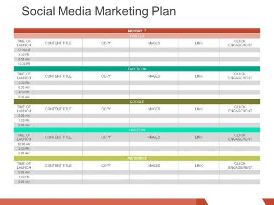 Social Media Marketing Plan Ppt PowerPoint Presentation Slides Template
