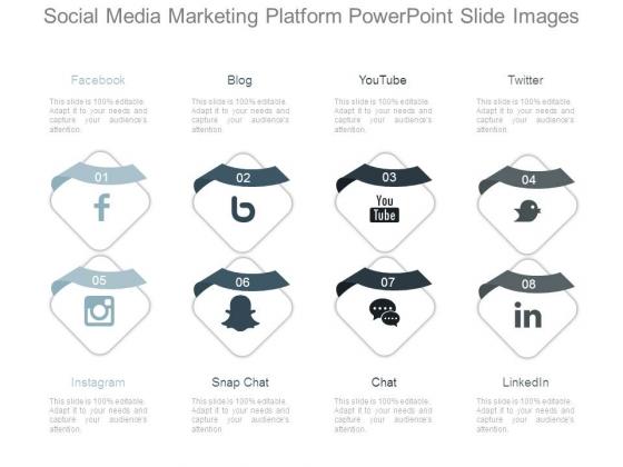 Social Media Marketing Platform Powerpoint Slide Images