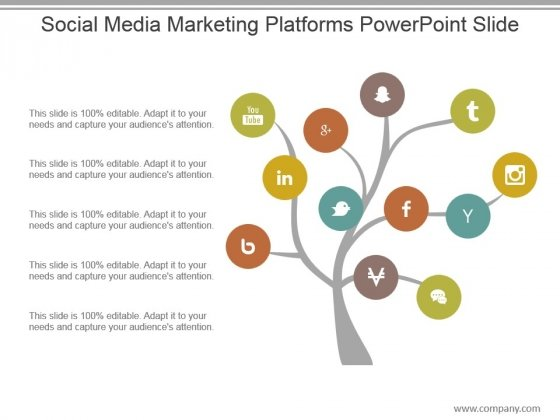 Social Media Marketing Platforms Powerpoint Slide
