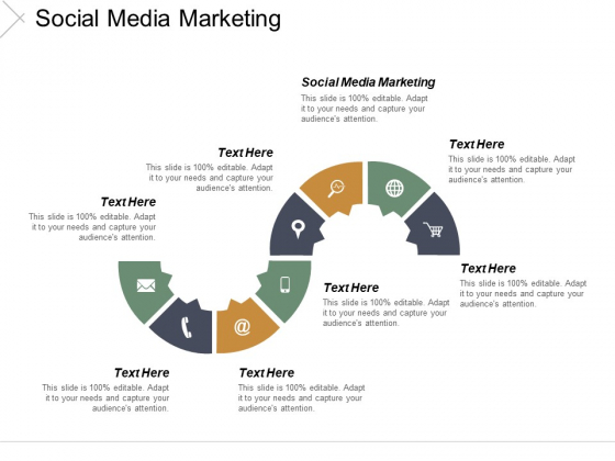Social Media Marketing Ppt PowerPoint Presentation Inspiration Slides Cpb