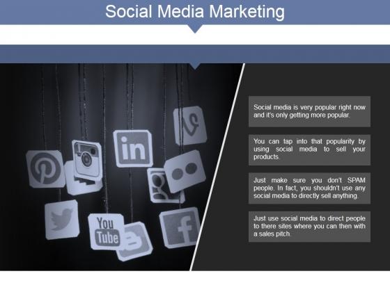 Social Media Marketing Ppt PowerPoint Presentation Model Master Slide