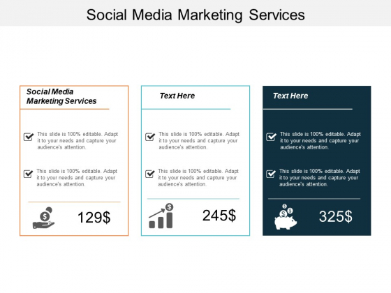 Social Media Marketing Services Ppt PowerPoint Presentation Summary Cpb
