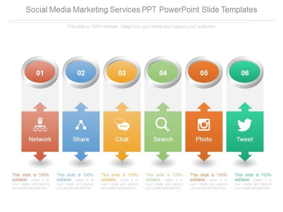 Social Media Marketing Services Ppt Powerpoint Slide Templates