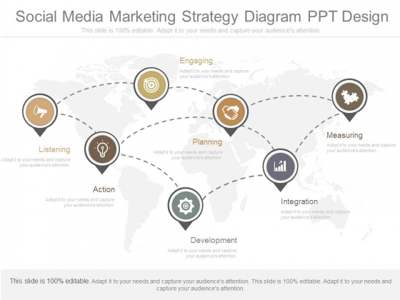 Social Media Marketing Strategy Diagram Ppt Design