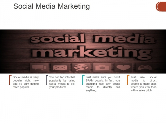 Social Media Marketing Template 1 Ppt PowerPoint Presentation File Graphics Pictures