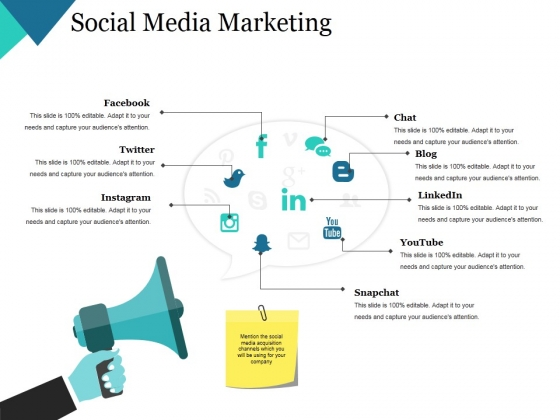 Social Media Marketing Template 2 Ppt PowerPoint Presentation Portfolio Vector