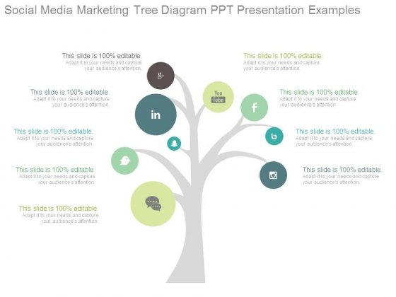 Social Media Marketing Tree Diagram Ppt Presentation Examples