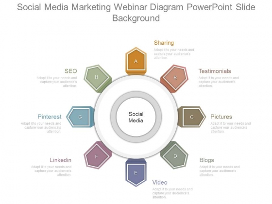Social Media Marketing Webinar Diagram Powerpoint Slide Background