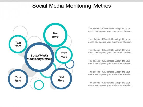 Social Media Monitoring Metrics Ppt PowerPoint Presentation Summary Design Ideas Cpb