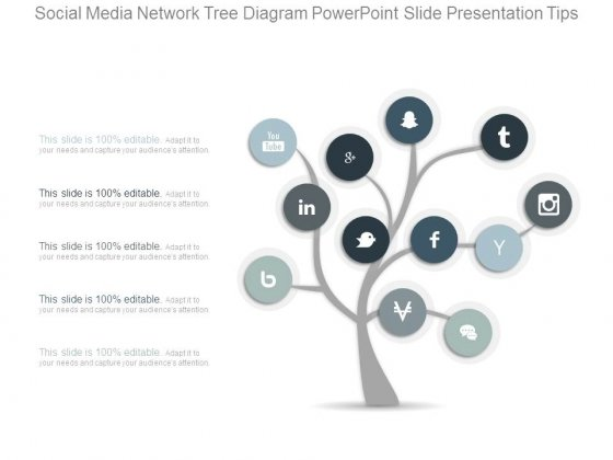 Social Media Network Tree Diagram Powerpoint Slide Presentation Tips
