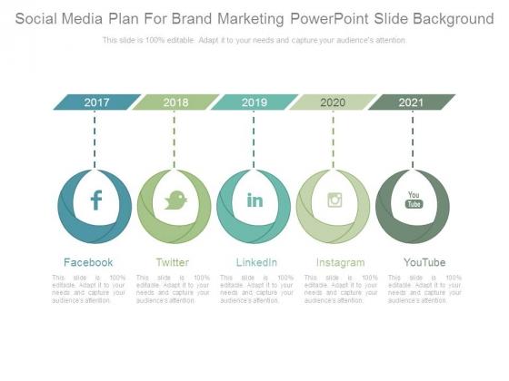 Social Media Plan For Brand Marketing Powerpoint Slide Background
