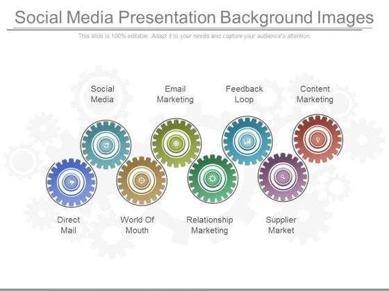 Social Media Presentation Background Images