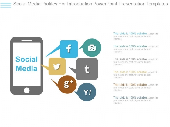 Social Media Profiles For Introduction Powerpoint Presentation Templates