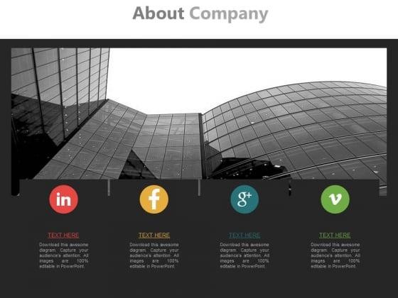 Social Media Profiles Of Company Powerpoint Slides