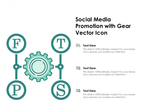 Social Media Promotion With Gear Vector Icon Ppt PowerPoint Presentation Gallery Good PDF
