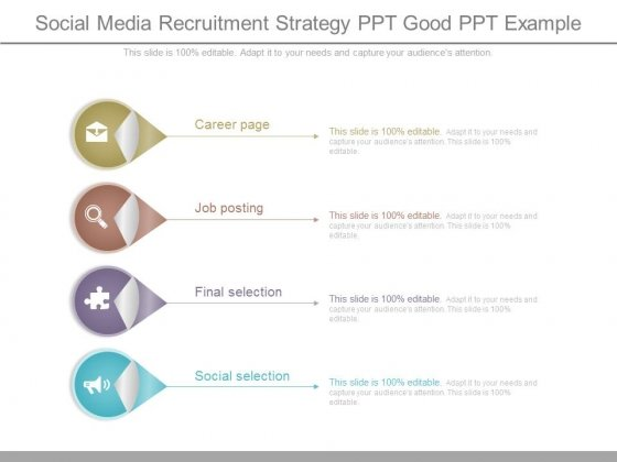 Social Media Recruitment Strategy Ppt Good Ppt Example  Powerpoint