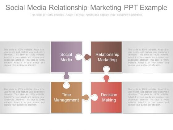 Social Media Relationship Marketing Ppt Example