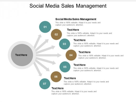 Social Media Sales Management Ppt PowerPoint Presentation File Graphics Design Cpb