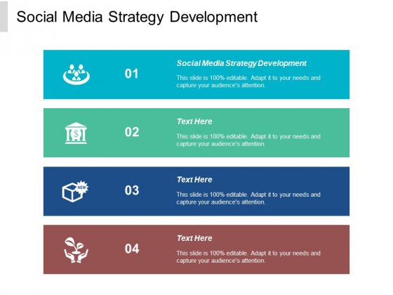 Social Media Strategy Development Ppt PowerPoint Presentation Layouts Show Cpb