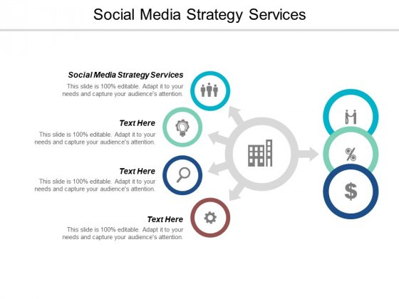 Social Media Strategy Services Ppt PowerPoint Presentation Summary Slide Portrait Cpb