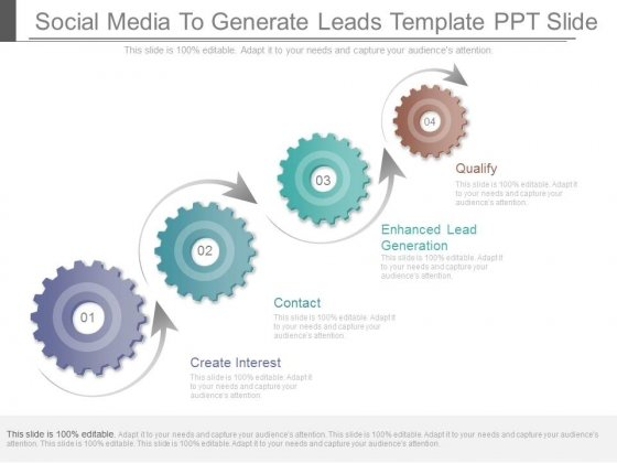 Social Media To Generate Leads Template Ppt Slide