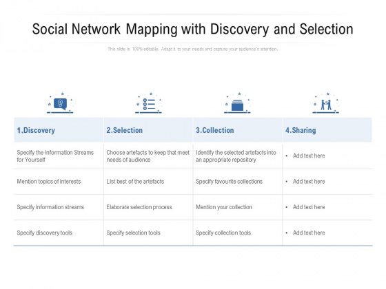 Social Network Mapping With Discovery And Selection Ppt PowerPoint Presentation Portfolio Format Ideas PDF