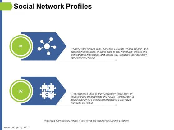 Social Network Profiles Ppt PowerPoint Presentation File Skills