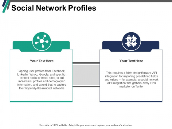 Social Network Profiles Ppt PowerPoint Presentation Icon Vector