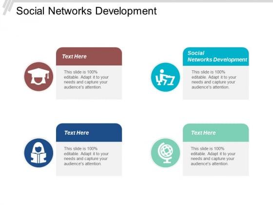 Social Networks Development Ppt PowerPoint Presentation Model Mockup Cpb